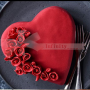 Red Velvet Heart Cake decorated with roses - queen of all layer cakes.